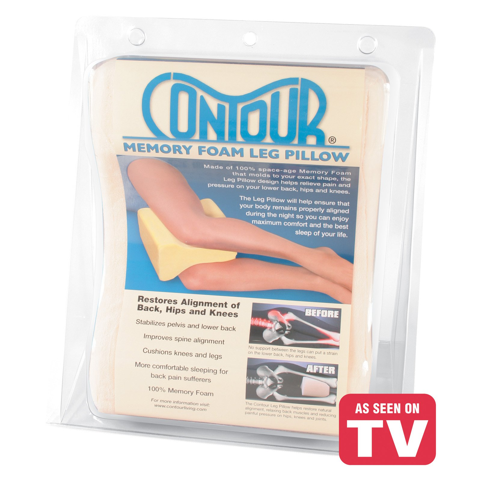 Contour Memory Foam Leg Pillow