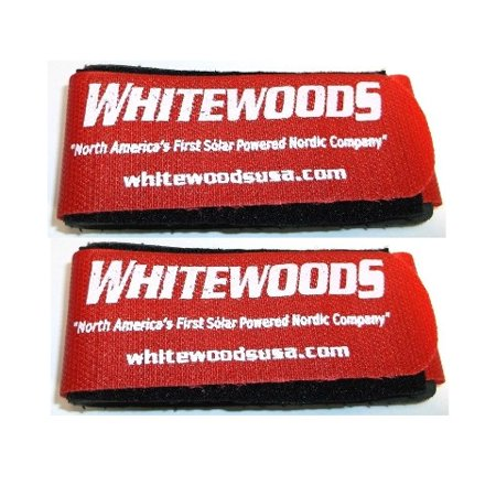 Whitewoods Set (2) Cross Country Ski Ties, Hold Together Easier to Carry, Red ()