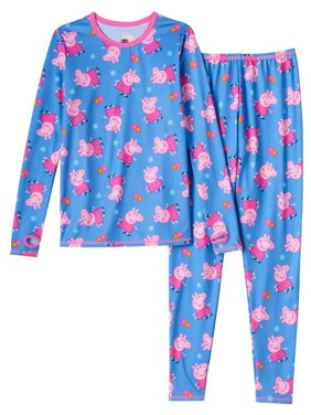 6ac5eb75798e Product Image Cuddl Duds Girls Blue Peppa Pig Chill Chasers Thermal  Underwear Base Layer