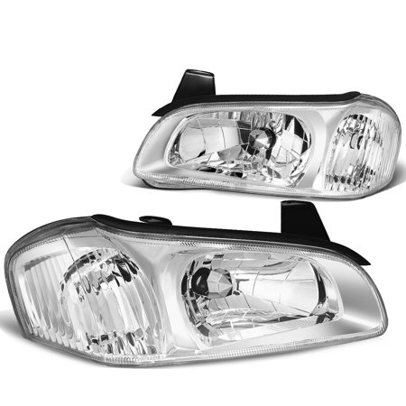 99 Nissan Maxima Euro Headlights - For 2000 to 2001 Nissan Maxima Euro Style Headlight Chrome Housing Clear Corner Headlamp Left+Right