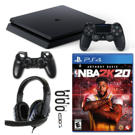 PlayStation 4 Slim 1TB Console with NBA 2K20 and Accessories