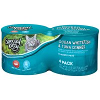 Special Kitty Classic Pate Ocean Whitefish & Tuna Dinner Wet Cat Food, 22 oz, 4 count