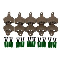 """Open Here"" Cast Iron Wall Mount Bottle Opener Vintage Look Replica(Set of 10 )"