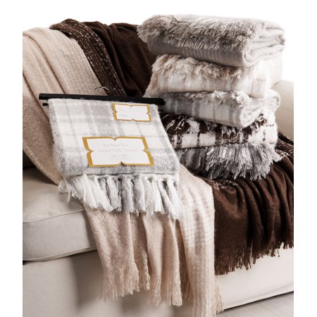 Genuine Mohair (Faux Mohair Big Sqaures Throw)