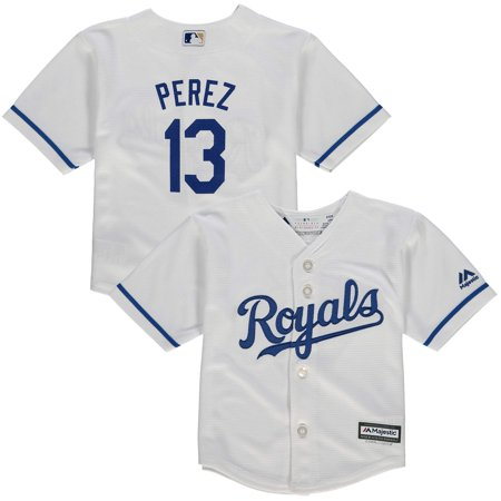 - Salvador Perez Kansas City Royals Majestic Infant Alternate Official Cool Base Player Jersey - Royal