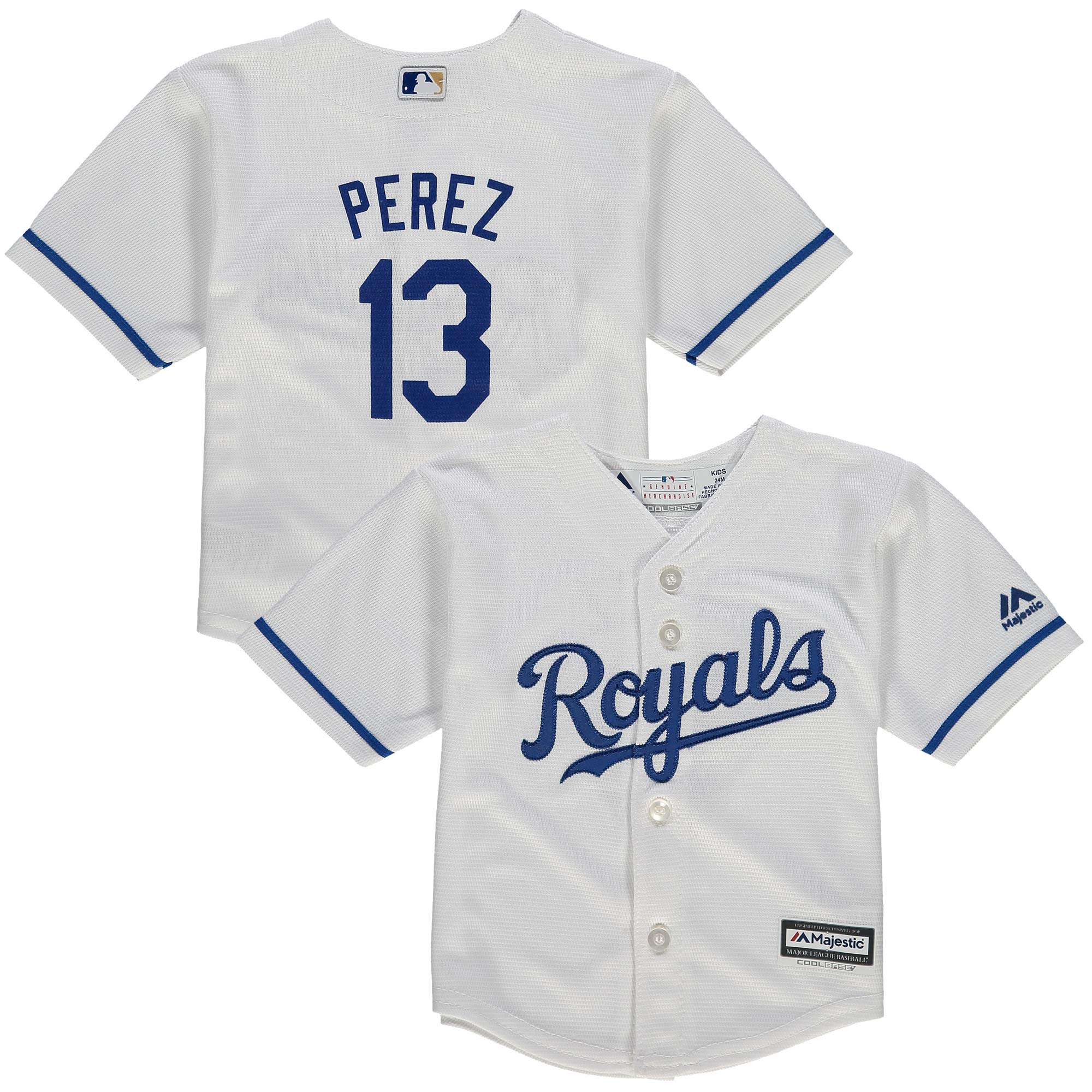 Salvador Perez Kansas City Royals Majestic Infant Alternate Official Cool Base Player Jersey - Royal