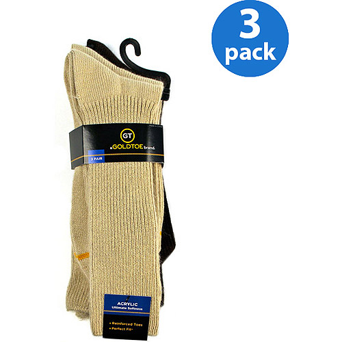 GT by Gold Toe Acrylic Fluff Socks, 3-Pack