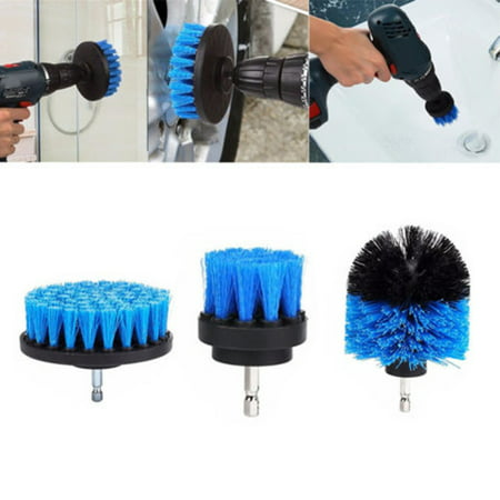 3Pcs/set Tile Grout Power Scrubber Cleaning Brushes Cleaner Set For Electric Drills