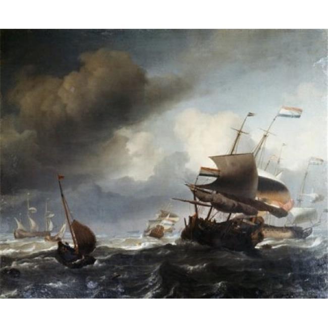 Posterazzi SAL900105135 Marine Ludolf Bakhuyzen 1631-1708 Dutch Poster Print - 18 x 24 in. - image 1 de 1