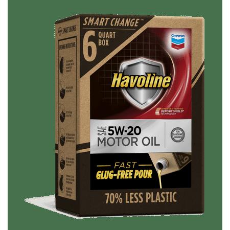 Automotive Oil Change System - Havoline SMART CHANGE® Motor Oil 5W-20, 6qt