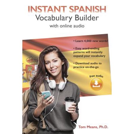Instant Spanish Vocabulary Builder with Online Audio