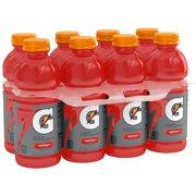 Gatorade Thirst Quencher Sports Drink, Fruit Punch, 20 oz Bottles, 8 Count