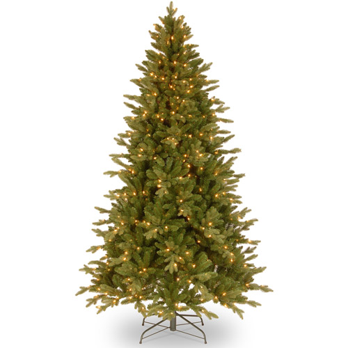 National Tree Pre-Lit 7.5' Feel-Real Avalon Spruce, Clear Lights