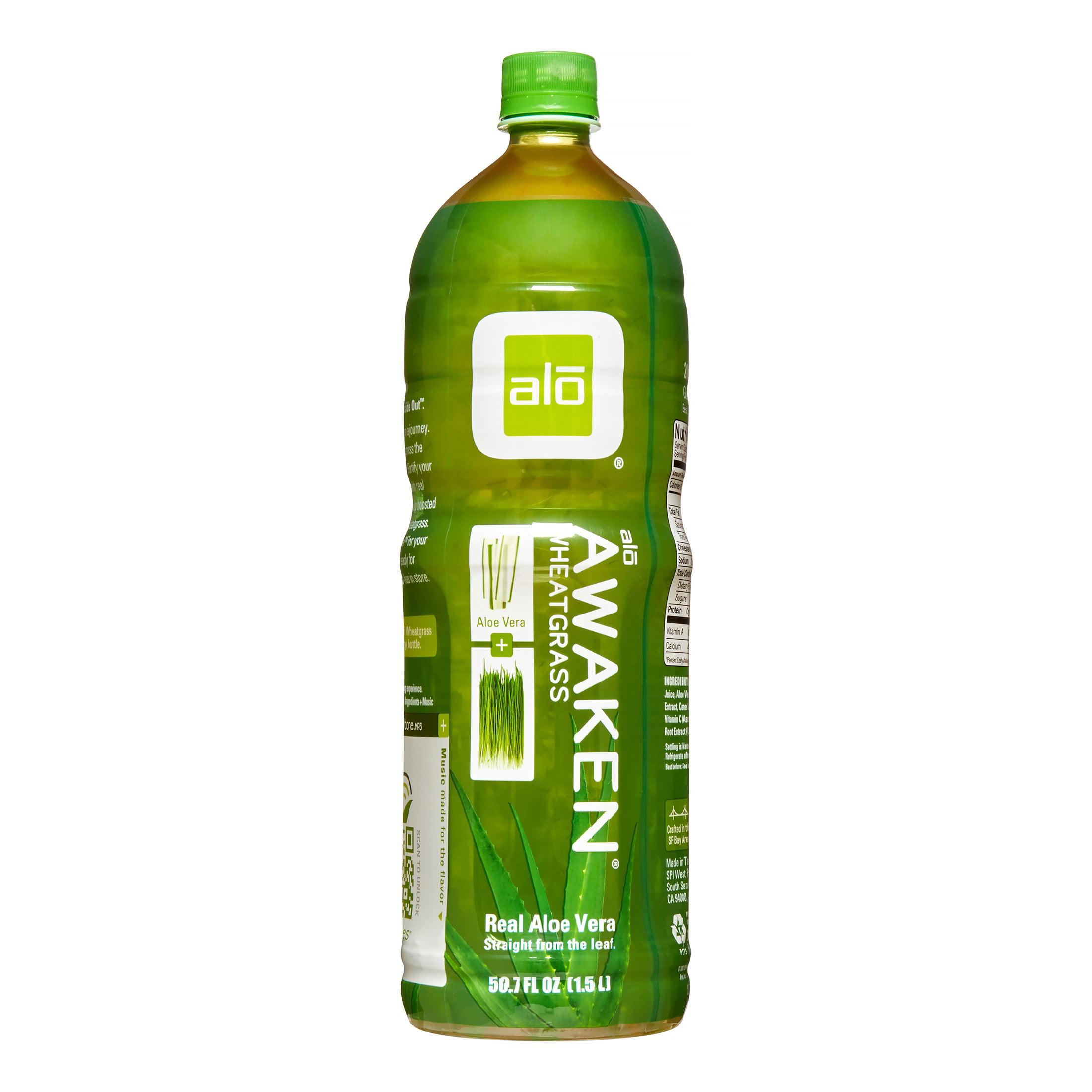 Alo e Vera Drink Awaken, Wheatgrass 50.7 Fl Oz