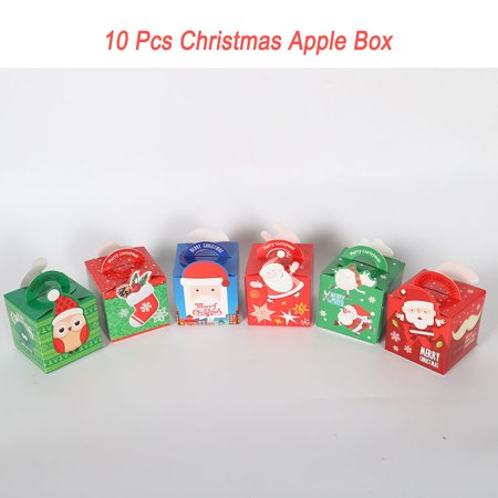 Mosunx Christmas Gift DIY Paper Boxes Xmas Apple Cake Candy Party Box