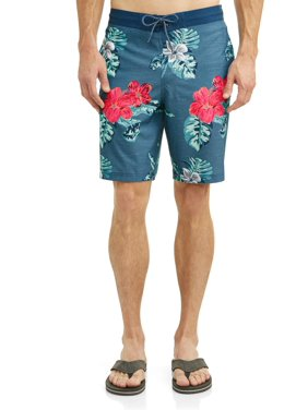 Men's Hibiscus 9-Inch Eboard Swim Short, up to size 5XL