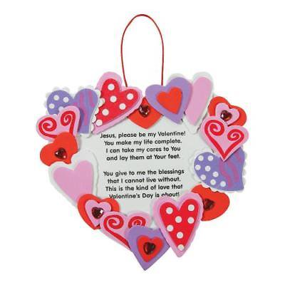 IN-48/5569 Inspirational Valentine Wreath Craft Kit Makes 12