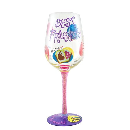 Best Friend Wine Glass - Unique Gift for Her - Hand Painted, BEAUTIFUL HAND PAINTED GLASS Our design of vibrant colors and sparkle embellishments are applied by.., By Top