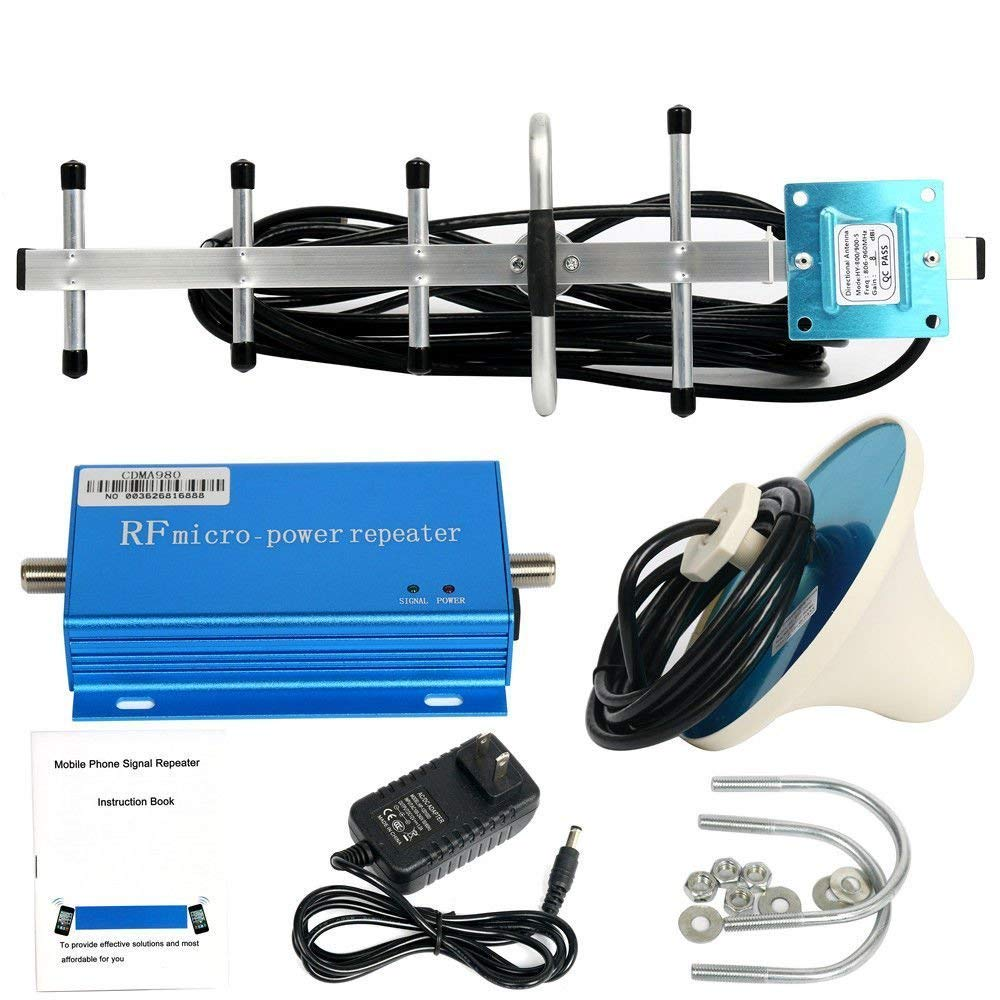 AP&T 8dBi High Gain 806-960MHz Band 4G Cell Phone Signal Booster Repeater Mobile Signal Amplifier Booster Indoor Ceiling/Outdoor Directional Antenna Kits for Home
