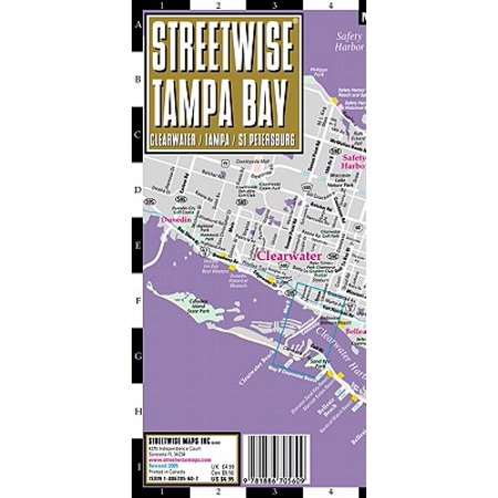 Streetwise Tampa: City Center Street Map of Tampa, Florida - Walmart.com