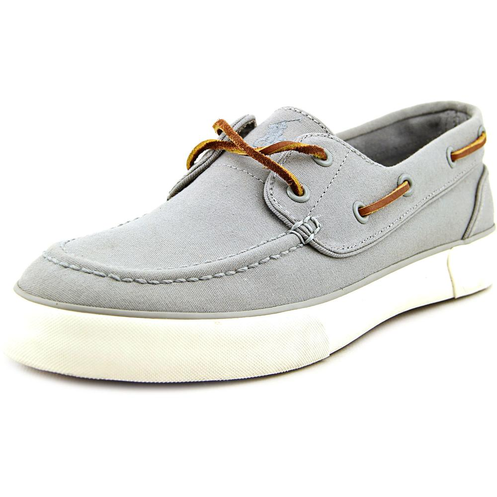 polo ralph sander moc toe canvas boat shoe