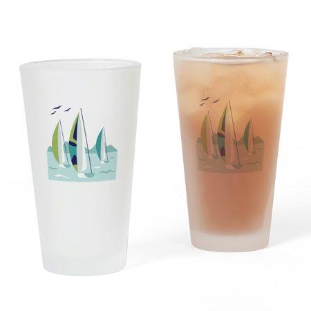 CafePress - Sail Boat Race - Pint Glass, Drinking Glass, 16 oz. - Sail Glass