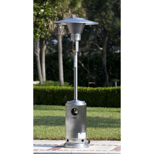 Stainless Steel Prime Round Patio Heater by Well Traveled Living