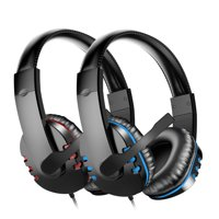 Gaming Headset with Mic for PS4, PC, Xbox One, EEEKit Surround Sound Noise Cancelling Over Ear Headphones with Soft Memory Ear Pads Compatible with Laptop Tablet Mobile Phone