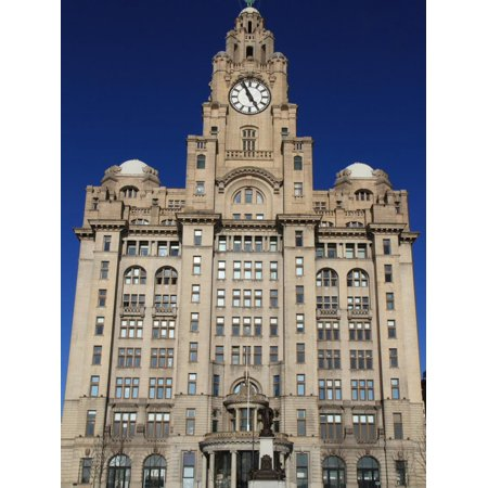Liver Building, Pierhead, UNESCO World Heritage Site, Liverpool, Merseyside, England, UK, Europe Print Wall Art By Rolf (Liverpool Maritime Mercantile City World Heritage Site)