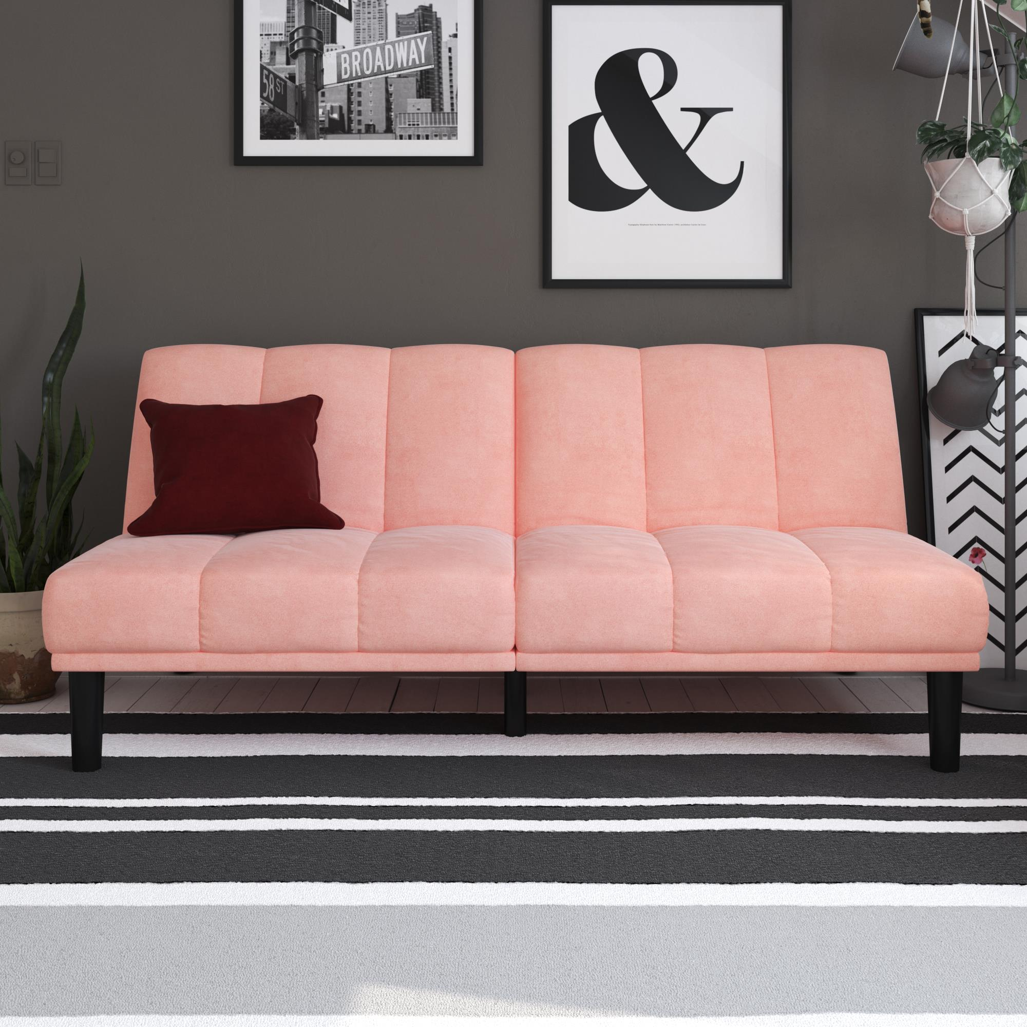 Mainstays Channel Cushion Futon, Multiple Colors