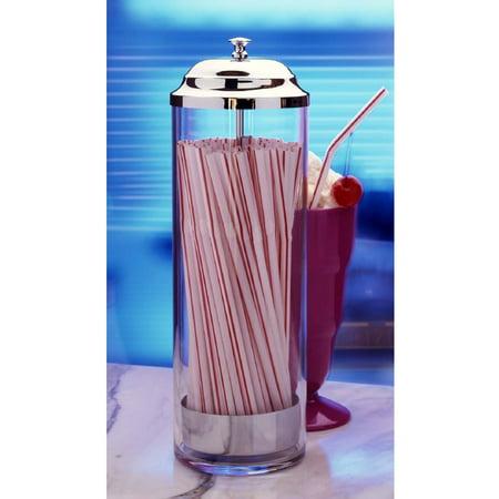 Prodyne Acrylic Straw Dispenser with 36 Straws (Acrylic Straw Dispenser)
