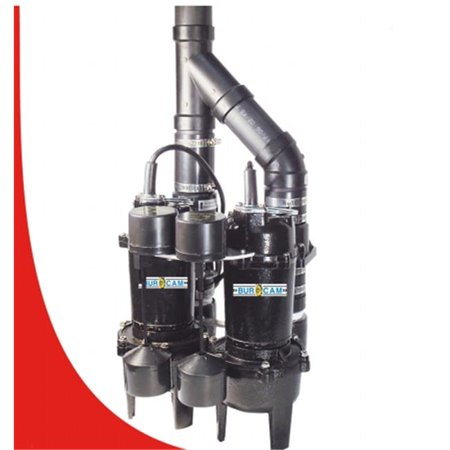 Duplex Pump (Bur-Cam Pumps 400505TWP 4-1HP Duplex Sewage Pumps)