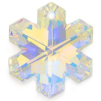 Swarovski Crystal, #6704 Snowflake Pendant 30mm, 1 Piece, Crystal AB
