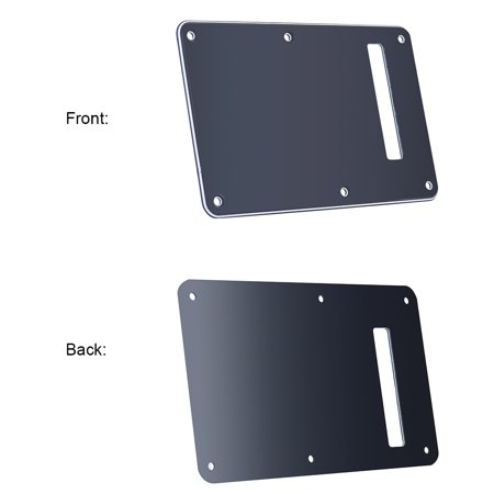 Pickguard Tremolo Cavity Cover Backplate Back Plate 3Ply for Stratocaster Strat Modern Style Electric Guitar Black