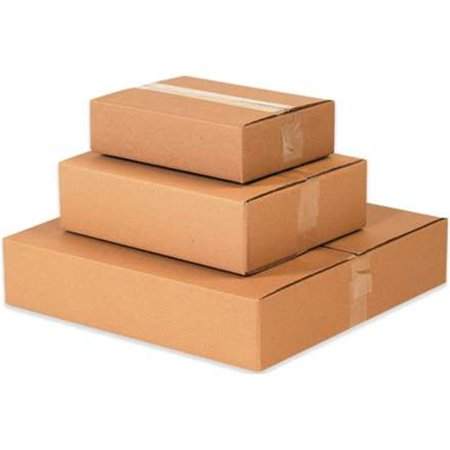 Box Partners 16123 16 x 12 x 3 in. Flat 200 ECT-32 Corrugated Boxes Case, Pack of 25
