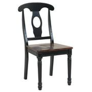 Sturdy Dining Chairs-Finish:Distressed Light Cherry/Black,Quantity:4 Piece