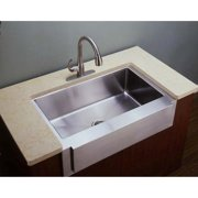 Empire Industries F36S Single Bowl Farmhouse Stainless Steel Kitchen Sink