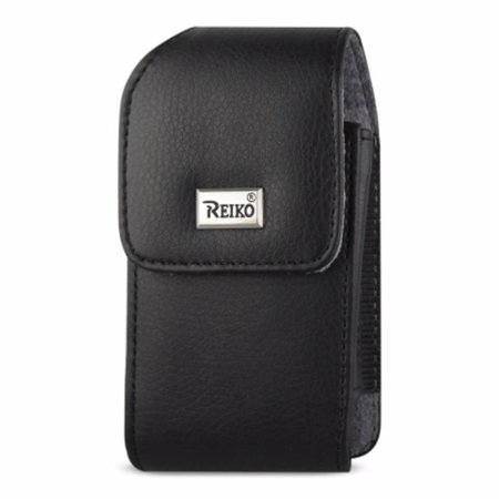 Leather Treo Smartphone - VERTICAL LEATHER POUCH TREO 650 BLACK WITH MEGNETIC AND METAL BELT CLIP (4.4X2.3X0.9 INCHES)