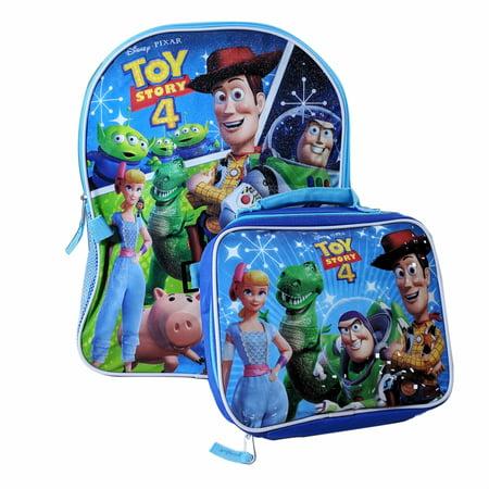 Disney Pixar Toy Story 4 Kids School Backpack with Lunch Bag Set Boys ()