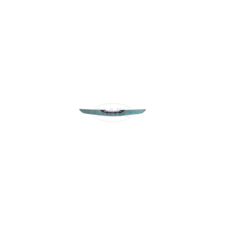 MACs Auto Parts Premier  Products 66-33678 - Ford Thunderbird Roof Side Emblem Insert, Plastic, Silver & Black & Turquoise, Except - Ford Thunderbird Windshield