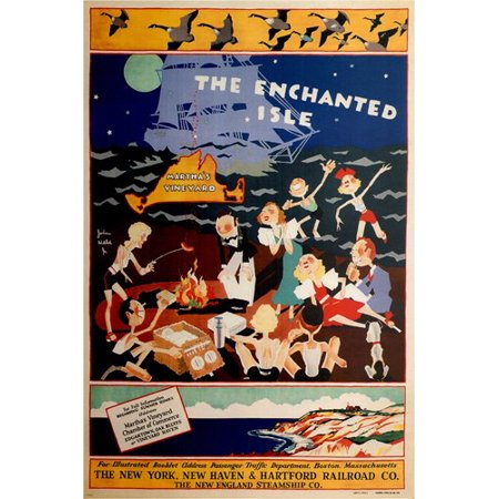 Martha'S Vinyard Vintage Ad Poster John Held Jr. Usa 1934 24X36 (John Head)