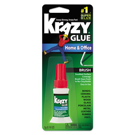 Krazy Glue KG94548R Instant Crazy Glue Home & Office Brush 0.18-Ounce](Halloween Glue)