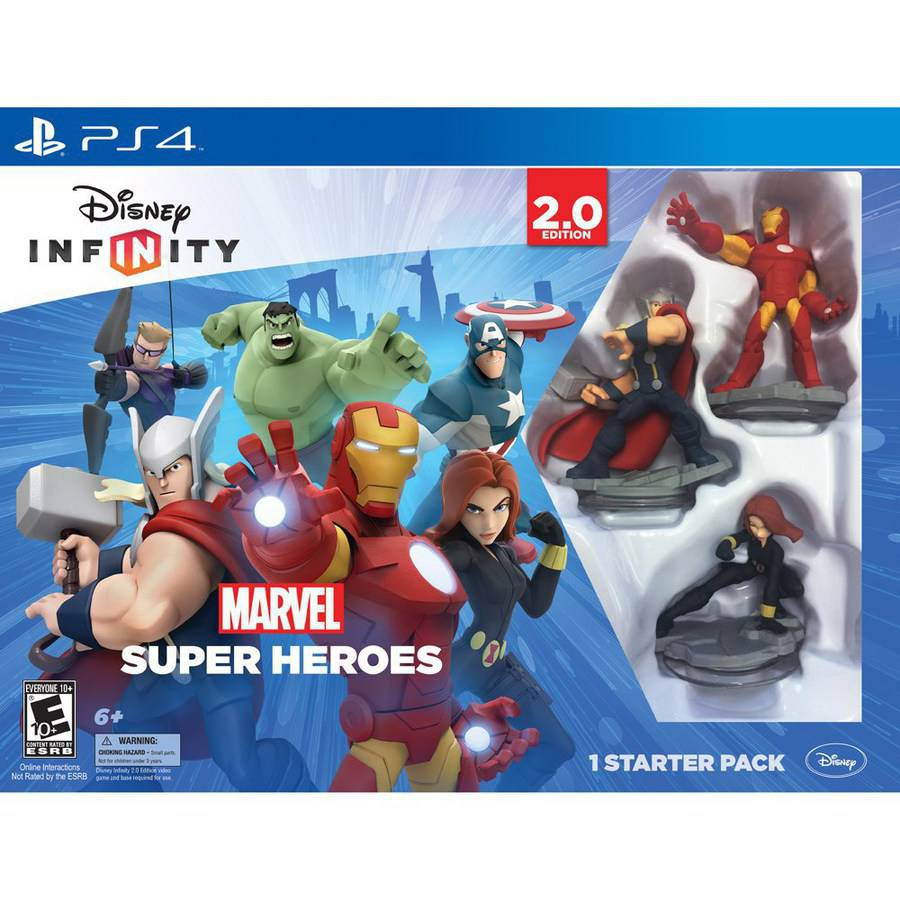 Disney Infinity: Marvel Super Heroes (2.0 Edition) Video Game Starter Pack (PS4)