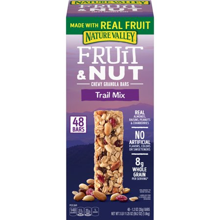 Nature Valley Fruit and Nut Chewy Trail Mix Granola Bars 48