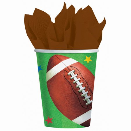 Football Fan Birthday Party Paper Cups Tableware, 9 Ounces, Pack of 8 Builder 9 Ounce Cups