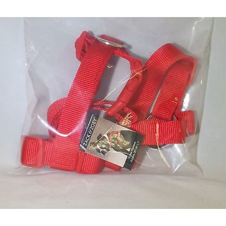 Zack & Zoey 1-Inch Nylon Dog Harness with Nickel-Plated D-ring and Plastic Buckles, Tomato Red