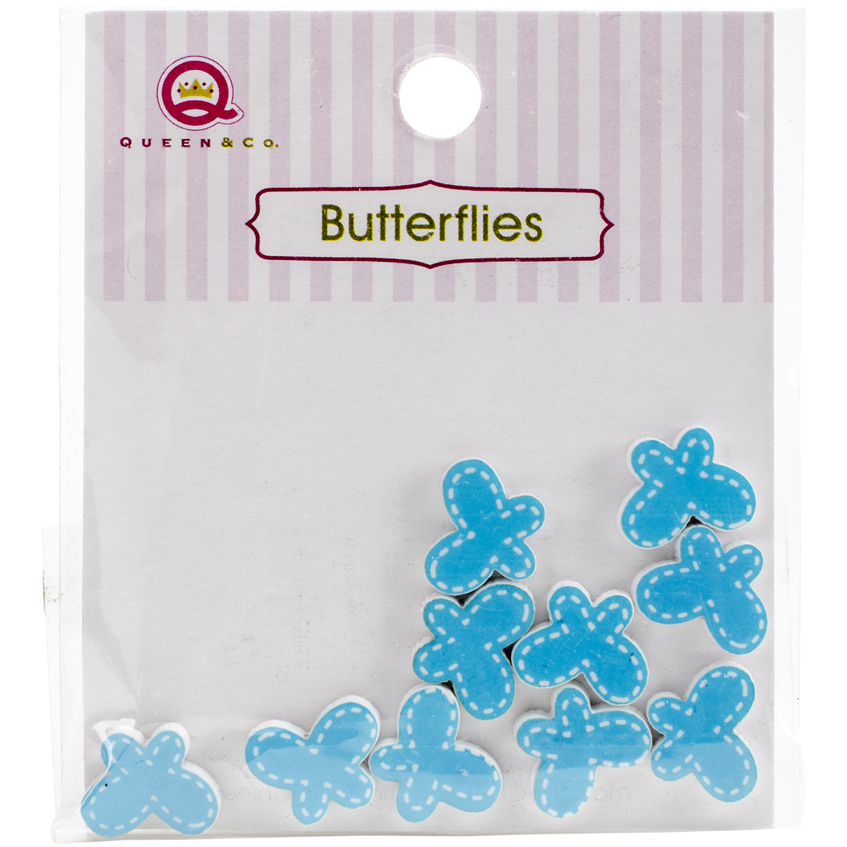 Queen & Co Resin Butterfly 10/Pkg-Blue