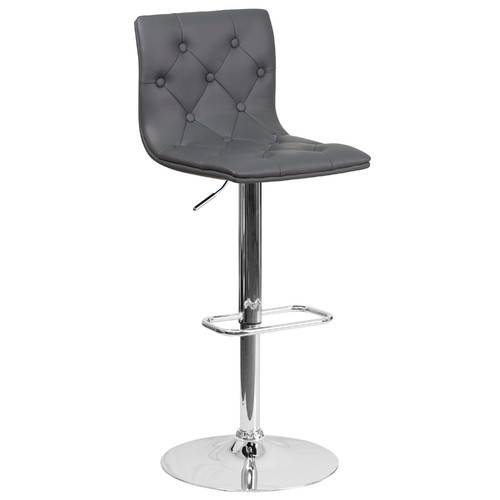 Orren Ellis Nocera Adjustable Height Swivel Bar Stool