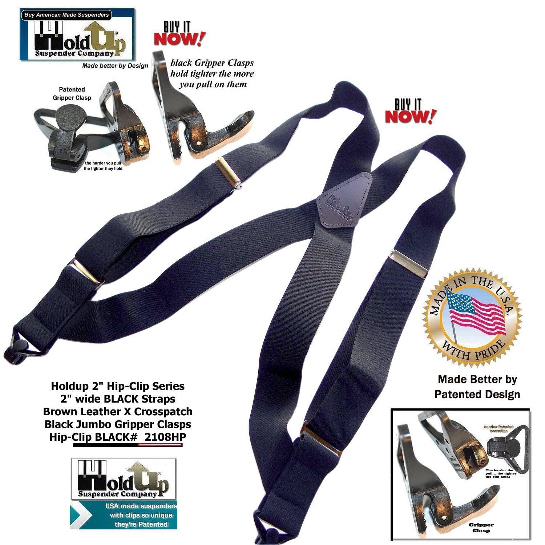 444175a3f42 Holdup Suspender Company Inc - Hold-Ups Black Hip-clip X-back 2
