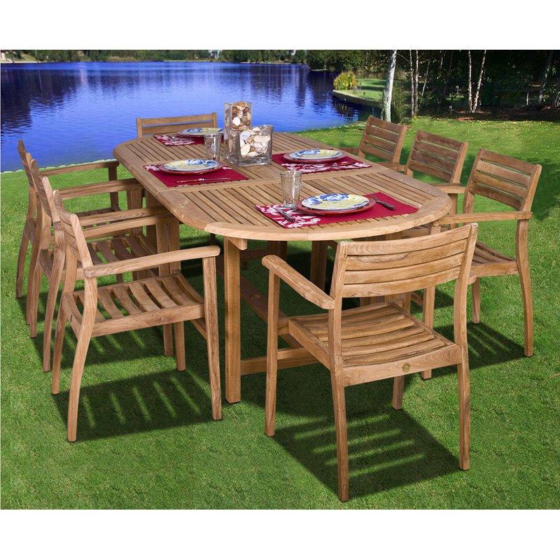 Amazonia Coventry Teak Dining Set - Seats 8